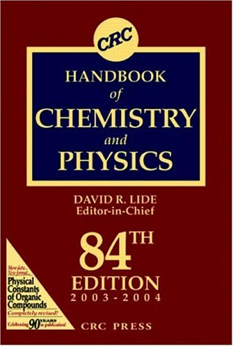 CRC Handbook of Chemistry and Physics, 84th Edition 9780849304842