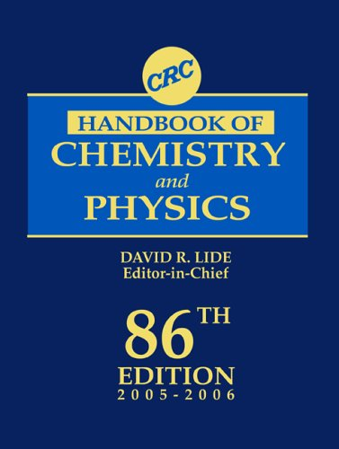 CRC Handbook of Chemistry and Physics, 86th Edition 9780849304866