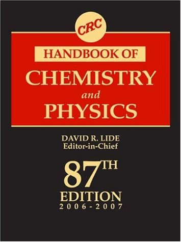 CRC Handbook of Chemistry and Physics, 87th Edition 9780849304873