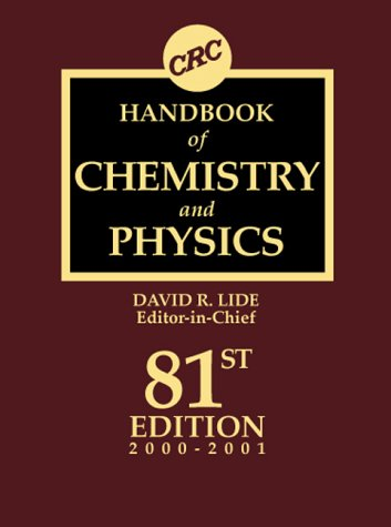 CRC Handbook of Chemistry and Physics: A Ready-Reference Book of Chemical and Physical Data 9780849304811