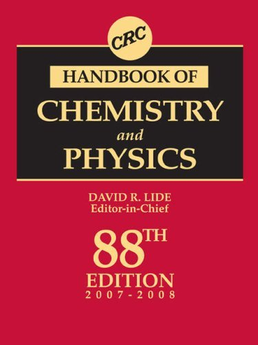 CRC Handbook of Chemistry and Physics - 88th Edition