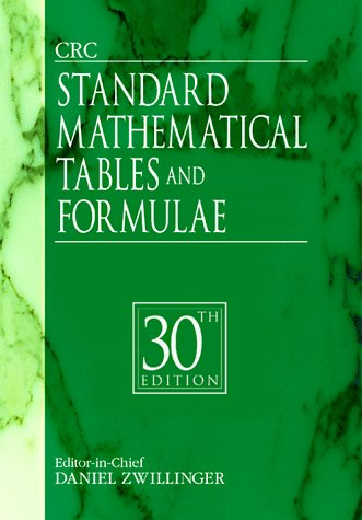 CRC Standard Mathematical Tables and Formulae, 31st Edition 9780849324796