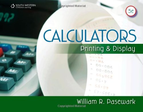 Calculators: Printing and Display 9780840065353
