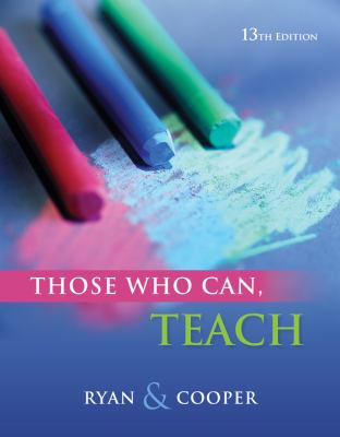 Cengage Advantage Books: Those Who Can, Teach 9780840028778