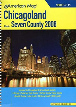 Chicagoland Seven County, Illinois Street Atlas 9780841627178