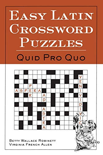 Easy Latin Crossword Puzzles 9780844284460