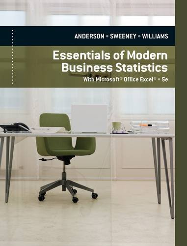 Essentials of Modern Business Statistics: With Microsoft Office Excel 9780840062383