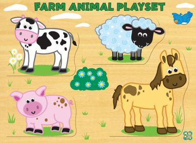 Farm Animal Playset [With 4 Paperbacks] 9780843133233