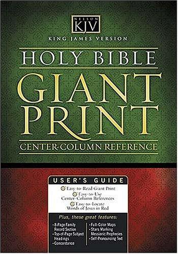 Giant Print Classic Reference Bible-KJV-Center Column 9780840704795