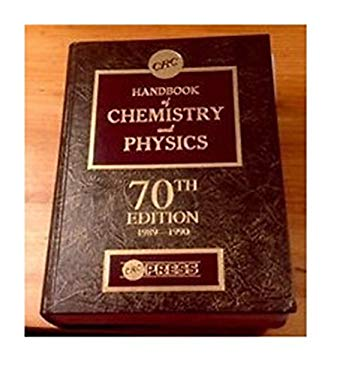 Hdbk of Chemistry & Physics 70th Edition