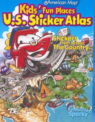 Kids' Fun Places U.S. Sticker Atlas: Stickers from Across the Country [With Stickers] 9780841625235