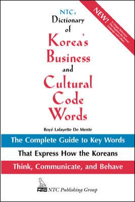 NTC's Dictionary of Korea's Business and Cultural Code Words 9780844283623