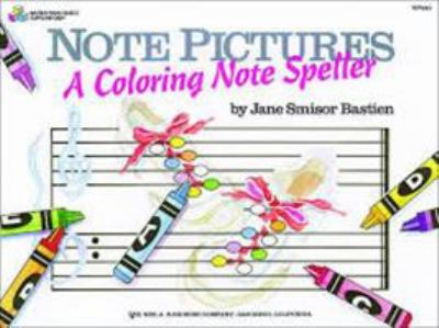 Bastien Note Pictures a Colouring Notespeller
