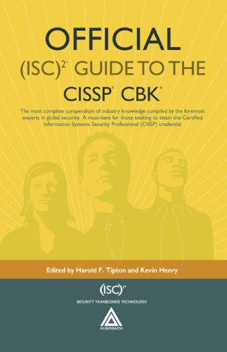 Official (Isc)2 Guide to the CISSP CBK [With CDROM] 9780849382314