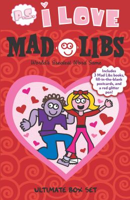 P.S. I Love Mad Libs Ultimate Box Set: World's Greatest Word Game [With Red Glitter Pen and 3 Fill-In-The-Blank Postcards] 9780843199024