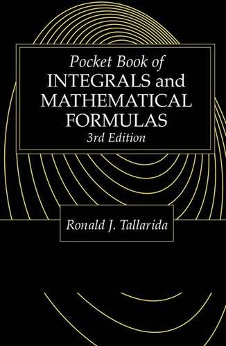 Pocket Book of Integrals and Mathematical Formulas, 4th Edition 9780849302633