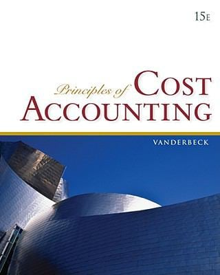 Principles of Cost Accounting 9780840037039