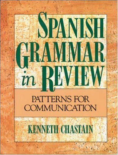 Spanish Grammar in Review by Kenneth Chastain | 9780844276700