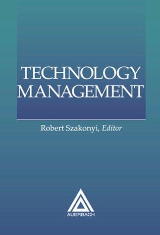 Technology Management, 1999 Edition 9780849399732