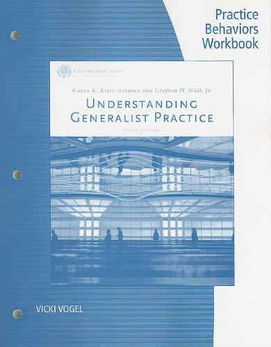 Understanding Generalist Practice: Practice Behaviors Workbook 9780840034465