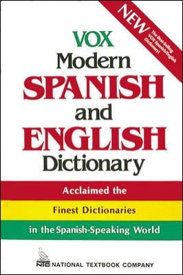 Vox Modern Spanish and English Dictionary 9780844279909