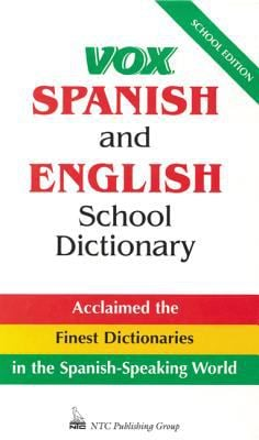 Vox Spanish and English School Dictionary 9780844279756