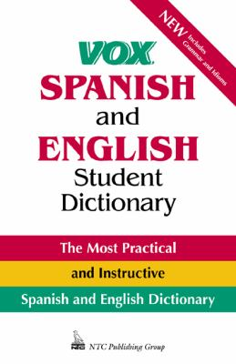 Vox Spanish and English Student Dictionary 9780844225548