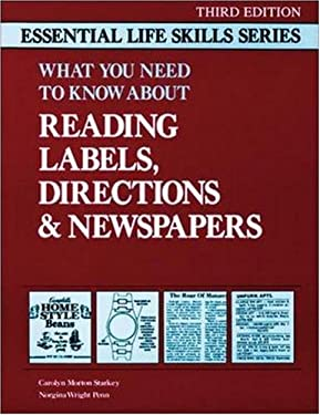 What You Need to Know about Reading Labels, Directions and Newspapers: Essential Life Skills 9780844251691