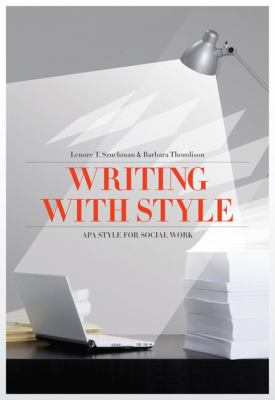 Writing with Style: APA Style for Social Work 9780840031983