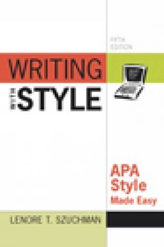 Writing with Style: APA Style Made Easy 9780840031679