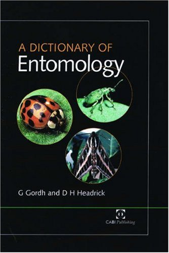 A Dictionary of Entomology 9780851992914