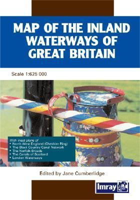 Map of the Inland Waterways of Great Britain: With Inset Plans of North West England (Cheshire Ring), the Black Country Canal Network, the Norfolk Bro 9780852885796
