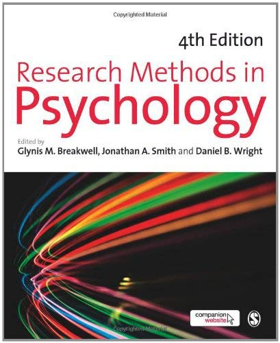 Research Methods in Psychology 9780857022646