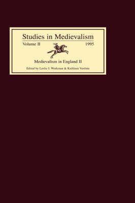 Studies in Medievalism VII: Medievalism in England II 9780859914871