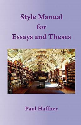 Style Manual for Essays and Theses 9780852447437