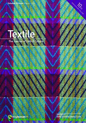 Textile: The Journal of Cloth & Culture 9780857852748