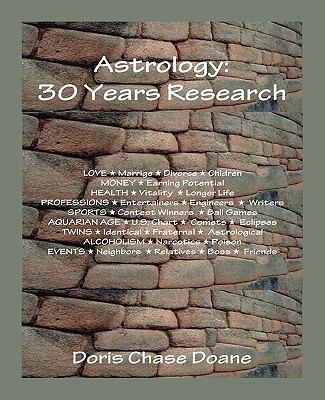 Astrology: 30 Years Research 9780866900706