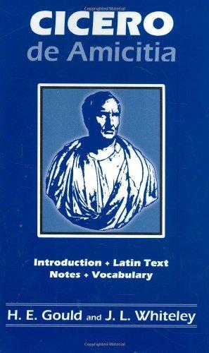 Cicero: de Amicitia 9780865160422