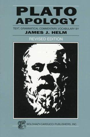 Plato: Apology 9780865163485