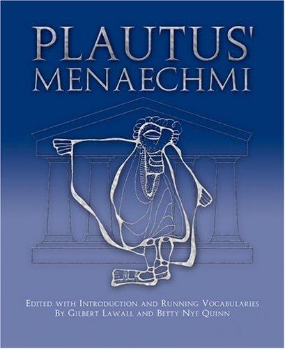 Plautus' Menaechmi 9780865160071