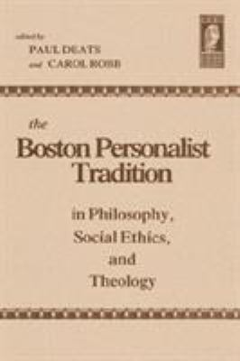The Boston Personalist Tradition 9780865541771