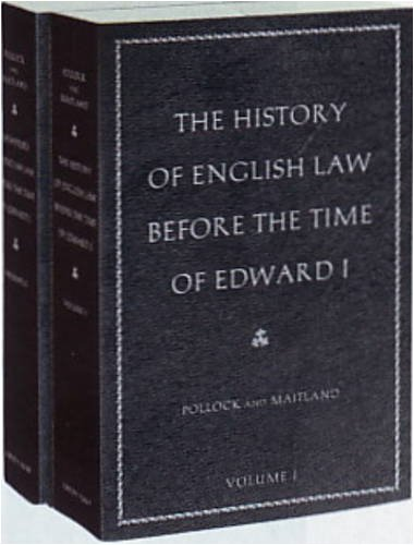 The History of English Law Before the Time of Edward I Set 9780865977525
