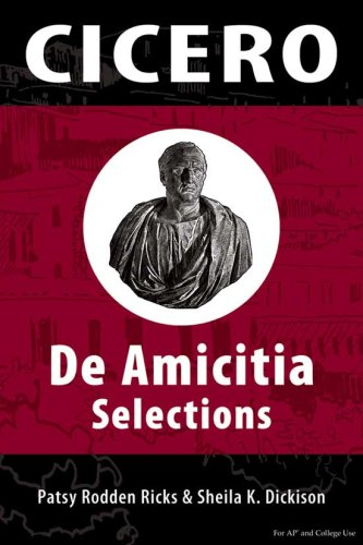 de Amicitia: Selections 9780865166394