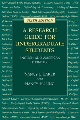 A Research Guide for Undergraduate Students: English and American Literature 9780873529242