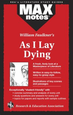 As I Lay Dying (Maxnotes Literature Guides) 9780878910595