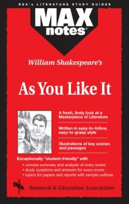 As You Like It (Maxnotes Literature Guides) 9780878910038