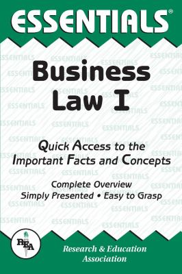 Business Law I Essentials 9780878916900