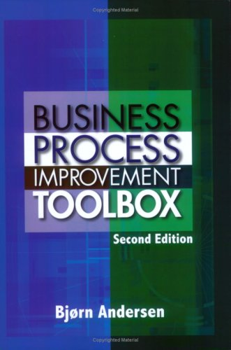 Business Process Improvement Toolbox 9780873897198