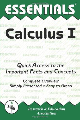 Calculus I Essentials 9780878915774