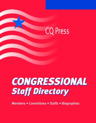 Congressional Staff Directory 2012/Summer 9780872896215